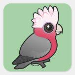 Birdorable Galah Pegatina Cuadrada