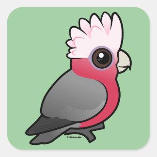 Birdorable Galah Square Sticker