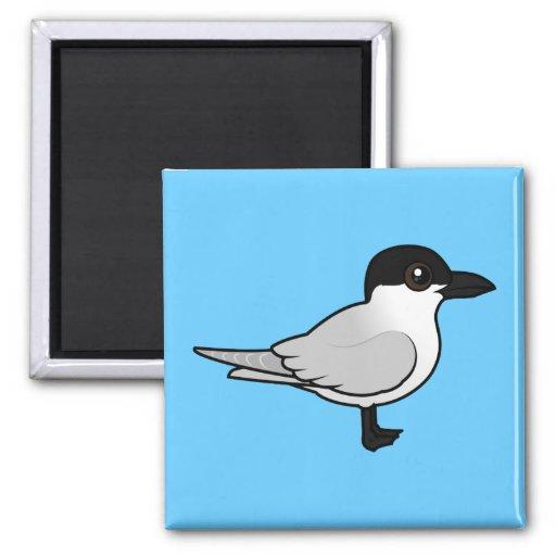 Birdorable Gaviota-cargó en cuenta la golondrina d Imán Cuadrado