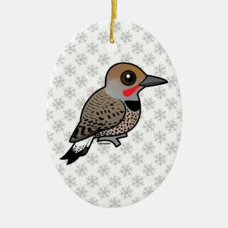Birdorable Gilded Flicker Ceramic Ornament