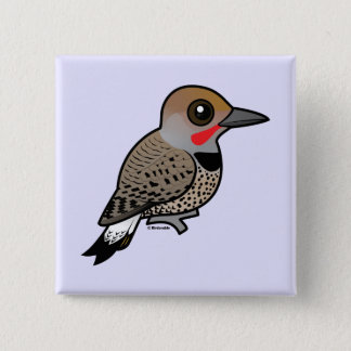 Birdorable Gilded Flicker Pinback Button