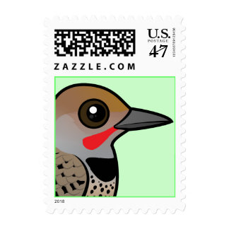 Birdorable Gilded Flicker Stamp