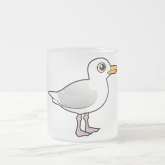 Birdorable Glaucous Gull Frosted Glass Coffee Mug