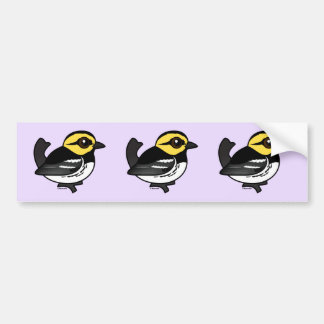 Birdorable Golden-cheeked Warbler Bumper Sticker