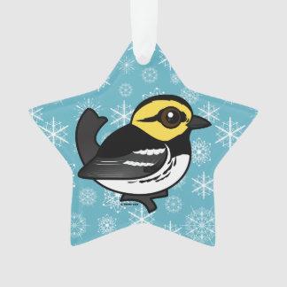 Birdorable Golden-cheeked Warbler Ornament