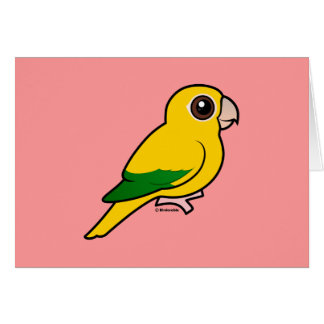 Birdorable Golden Parakeet Card
