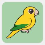 Birdorable Golden Parakeet Square Sticker
