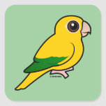 Birdorable Golden Parakeet Square Stickers