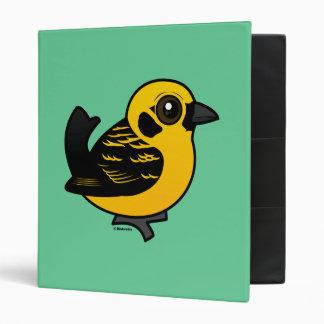 Birdorable Golden Tanager 3 Ring Binder
