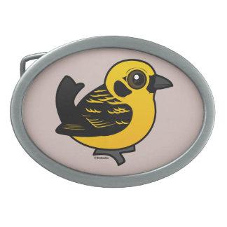 Birdorable Golden Tanager Belt Buckles