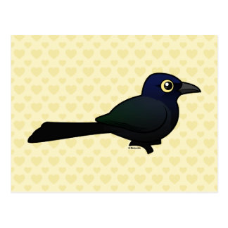 Birdorable Grande-ató Grackle Tarjetas Postales