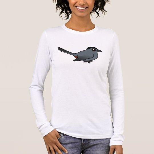 Birdorable Gray Catbird Long Sleeve T-Shirt
