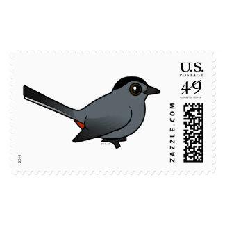 Birdorable Gray Catbird Stamps