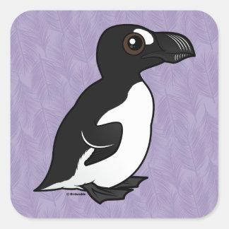 Birdorable Great Auk Square Sticker