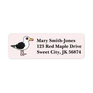 Birdorable Great Black-backed Gull Label