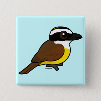 Birdorable Great Kiskadee Pinback Button