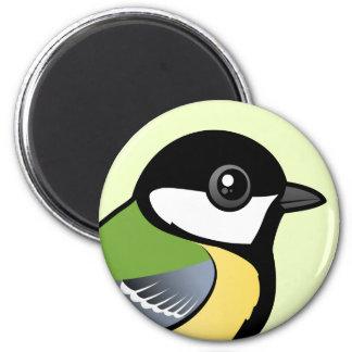 Birdorable Great Tit 2 Inch Round Magnet