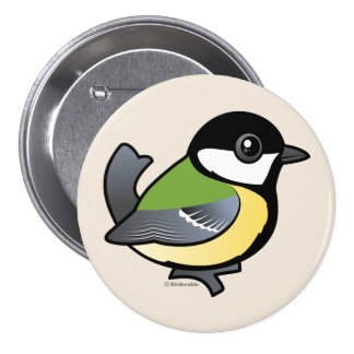 Birdorable Great Tit Button