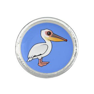 Birdorable Great White Pelican Photo Ring