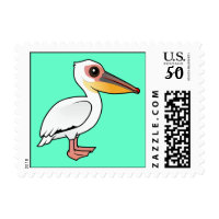 Great White Pelican Small Stamp 1.8