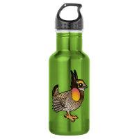 Cute Greater Prairie-Chicken Water Bottle (24 oz)