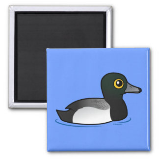 Birdorable Greater Scaup 2 Inch Square Magnet