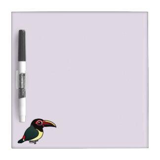 Birdorable Green Aracari Dry Erase Board
