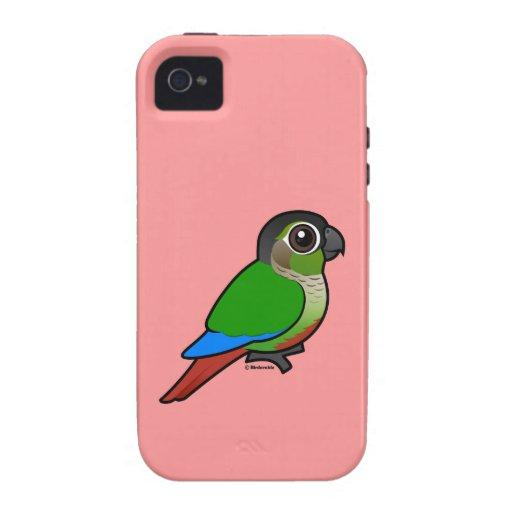 Birdorable Green-cheeked Conure iPhone 4 Cases