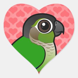 Birdorable Green-cheeked Conure Heart Sticker
