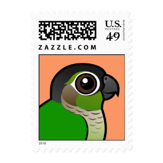 Birdorable Green-cheeked Conure Postage Stamps