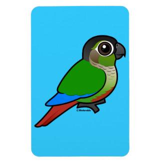 Birdorable Green-cheeked Conure Rectangular Photo Magnet