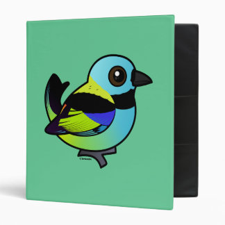 Birdorable Green-headed Tanager 3 Ring Binder