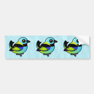 Birdorable Green-headed Tanager Bumper Sticker
