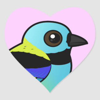 Birdorable Green-headed Tanager Heart Sticker