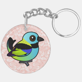 Birdorable Green-headed Tanager Double-Sided Round Acrylic Keychain