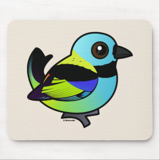 Birdorable Green-headed Tanager Mouse Pad