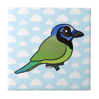 Birdorable Green Jay Ceramic Tile
