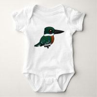 Green Kingfisher Baby Jersey Bodysuit