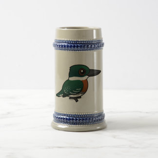 Birdorable Green Kingfisher Beer Stein