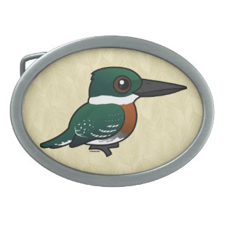 Birdorable Green Kingfisher Belt Buckles