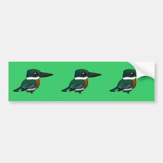 Birdorable Green Kingfisher Bumper Stickers