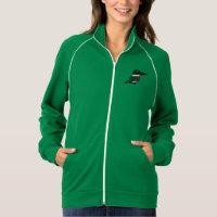 Green Kingfisher Women's American Apparel California Fleece Track Jacket