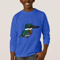 Green Kingfisher Kids' Basic Long Sleeve T-Shirt
