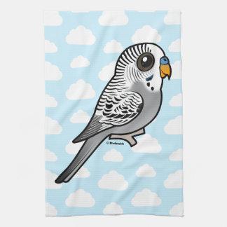 Birdorable Grey Budgie Kitchen Towels
