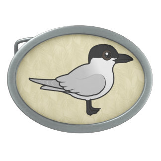 Birdorable Gull-billed Tern Oval Belt Buckle