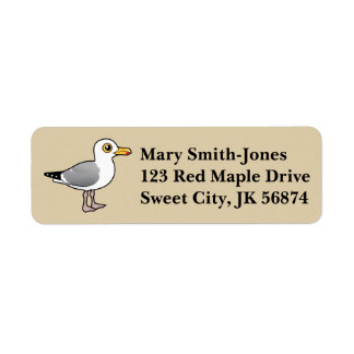 Birdorable Herring Gull Return Address Label