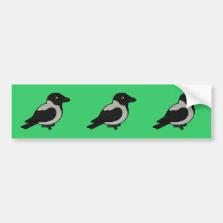 Birdorable Hooded Crow Bumper Sticker