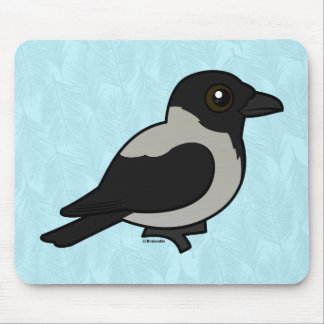 Birdorable Hooded Crow Mouse Pad