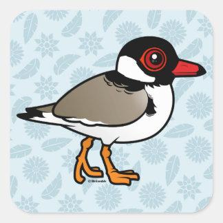 Birdorable Hooded Plover Square Sticker