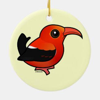 Birdorable 'I'iwi Christmas Tree Ornaments